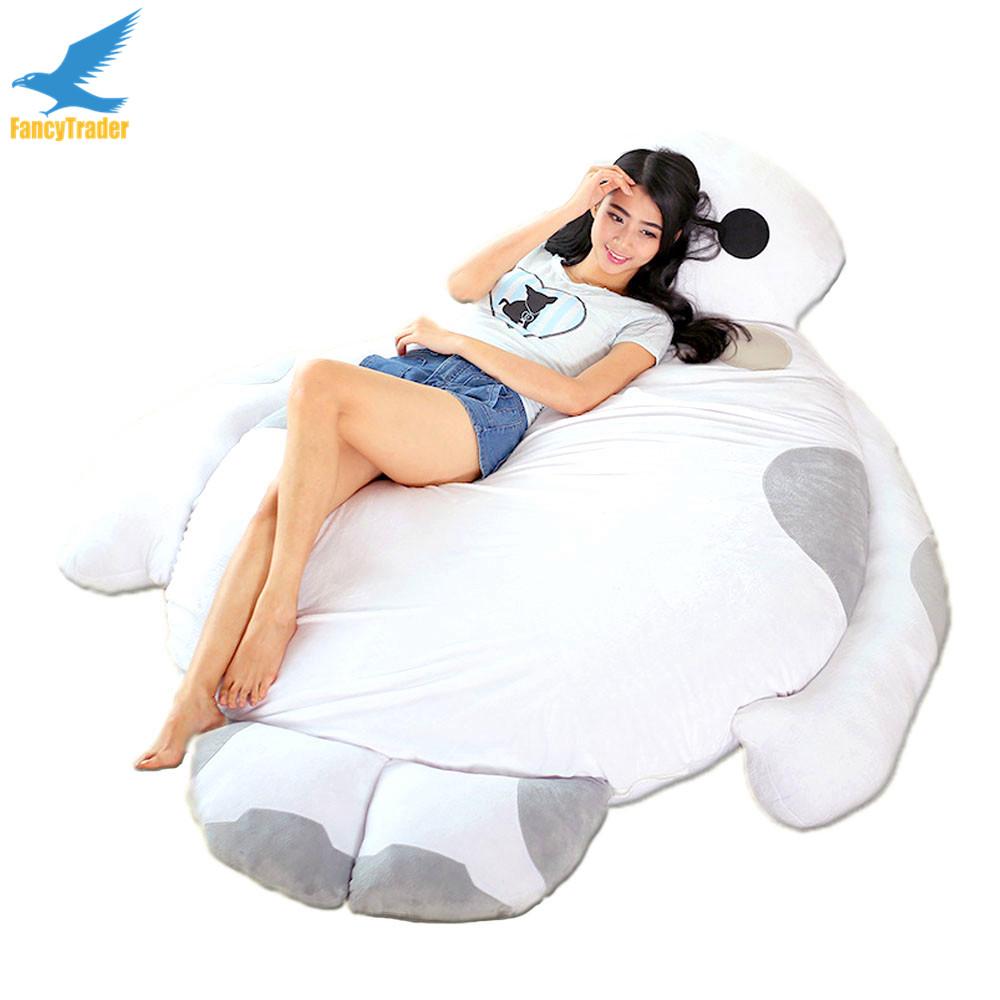 Fancytrader 2016 New Giant Big Hero 6 Plush Baymax Bed Sofa Tatami Mattress Sleeping Bag 3 Sizes FT90513(China (Mainland))