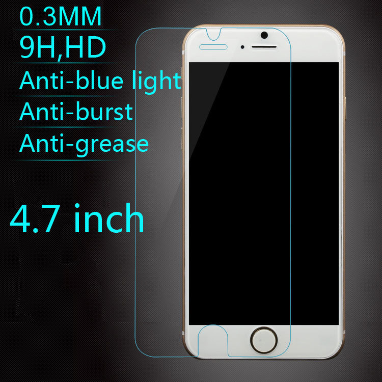 Latest 0.3 mm 2.5D 9H HD Ultra Thin Premium Tempered Glass Screen Protector Front Protective Film For Apple iPhone 6 4.7 inch(China (Mainland))