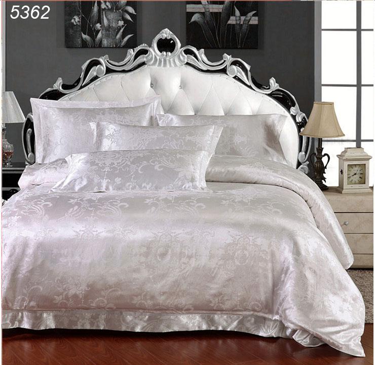 Royale literie de luxe en satin de soie housse de couette queen linge de lit king satin couvre-lit drap de coton 5362(China (Mainland))