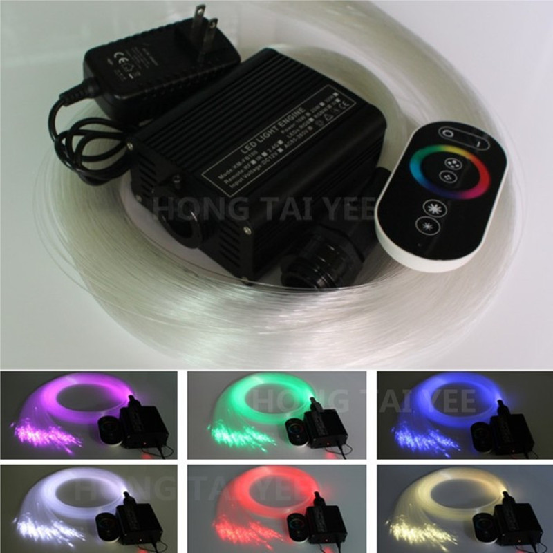 16W RGB LED Fiber Optic Star Ceiling Light Kit light engine+optic fiber cable 300.75mm*3m Touch remote controller - Shenzhen HongTai Yee Technology co.,LTD store