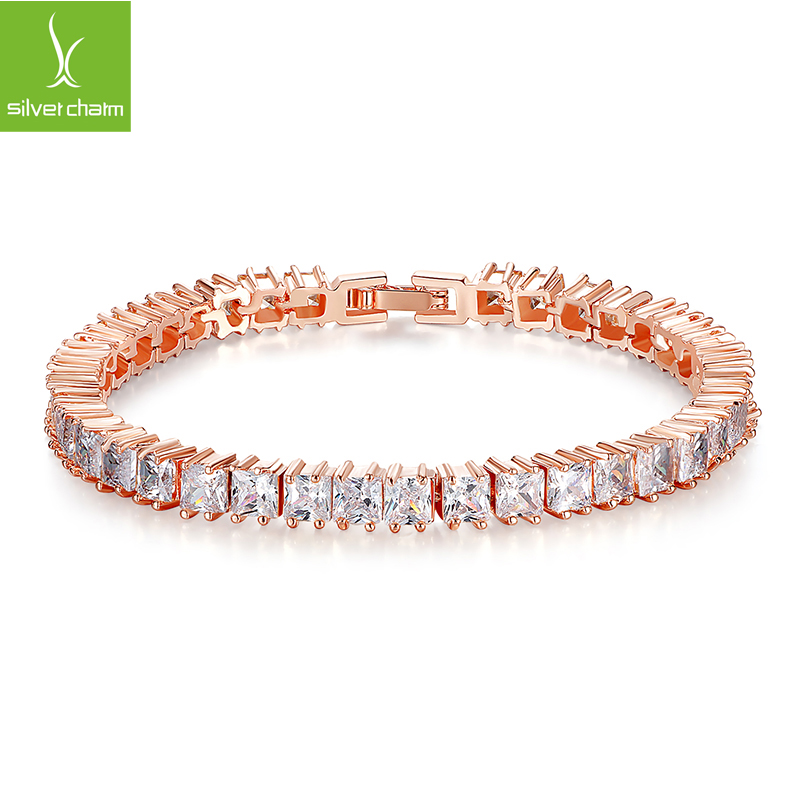 2016 New Romantic Fashion 18K Gold Plated Chain Bracelet For Women Girl With AAA Crystal Zircon Luxury Jewelry Gift For Mother(China (Mainland))