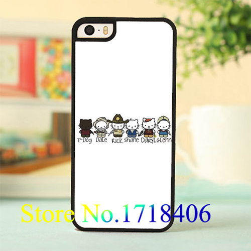 Daryl Dixon Hello Kitty 4 cell phone case cover for iphone 4 4s 5 5s 5c SE 6 6s & 6 plus 6s plus *c92(China (Mainland))