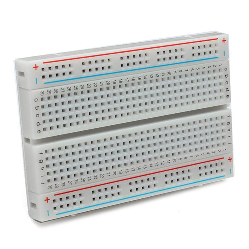 Mini Solderless Prototype Breadboard Bread Board White 400 Contacts Points Available For Electronic Circuit Assembly(China (Mainland))