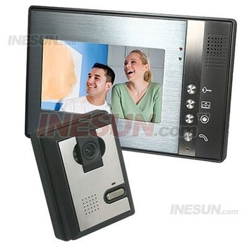 Video Door Bell Phone Intercom Rings System 7 Inch Color Monitor IR Camera Connect Door Lock Free Shipping