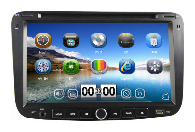 "7"" Car dvd player For Emgrand EC7 2012 2013 with GPS Navigation Bluetooth Radio Audio Video 3G USB Port Russian menu language"