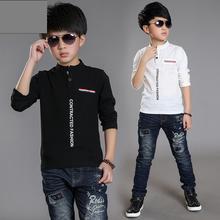 HOT  Spring boy print long sleeve t-shirt  6&7&8&9&10&14 Age kids clothes white o-neck shirt  teenage boy clothes children shirt