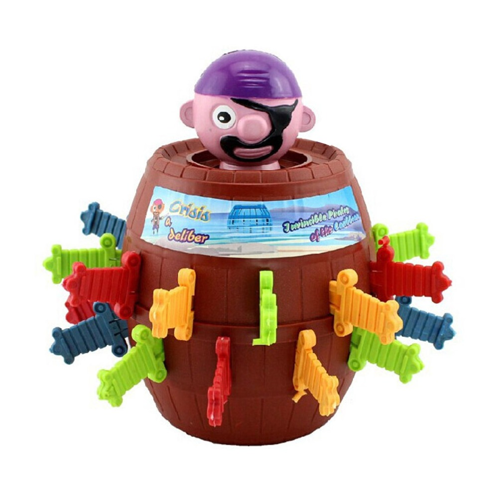 Children Funny Novelty 24 Swords Bigger Size Pirate Barrel Game Toys Super Interesting Pirate Tricky Toy Piggy Bank(China (Mainland))