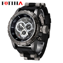 Vogue Fashion V6 3D surface Case Luxury Black Male Hour Clock Analog Military Man Business Casual Wrist watch reloj Gift(China (Mainland))