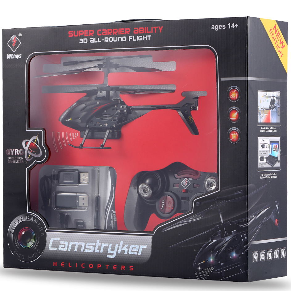 2015 3.5 CH Helicopter WLS977 Radio Remote Control Metal Gyro RC Helicopter Toys With Camera / Flashlight & Retail Box RCD03678(China (Mainland))