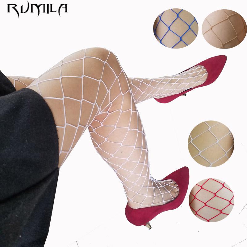 White red blue women high waist stocking fishnet club tights panty knitting net pantyhose trouser mesh lingerie TT016 1pcs(China (Mainland))