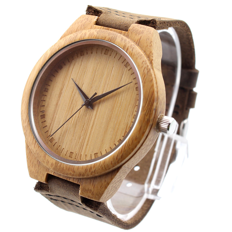 New arrival japanese miyota 2035 movement wristwatches genuine leather bamboo wooden watches for men and women christmas gifts(China (Mainland))