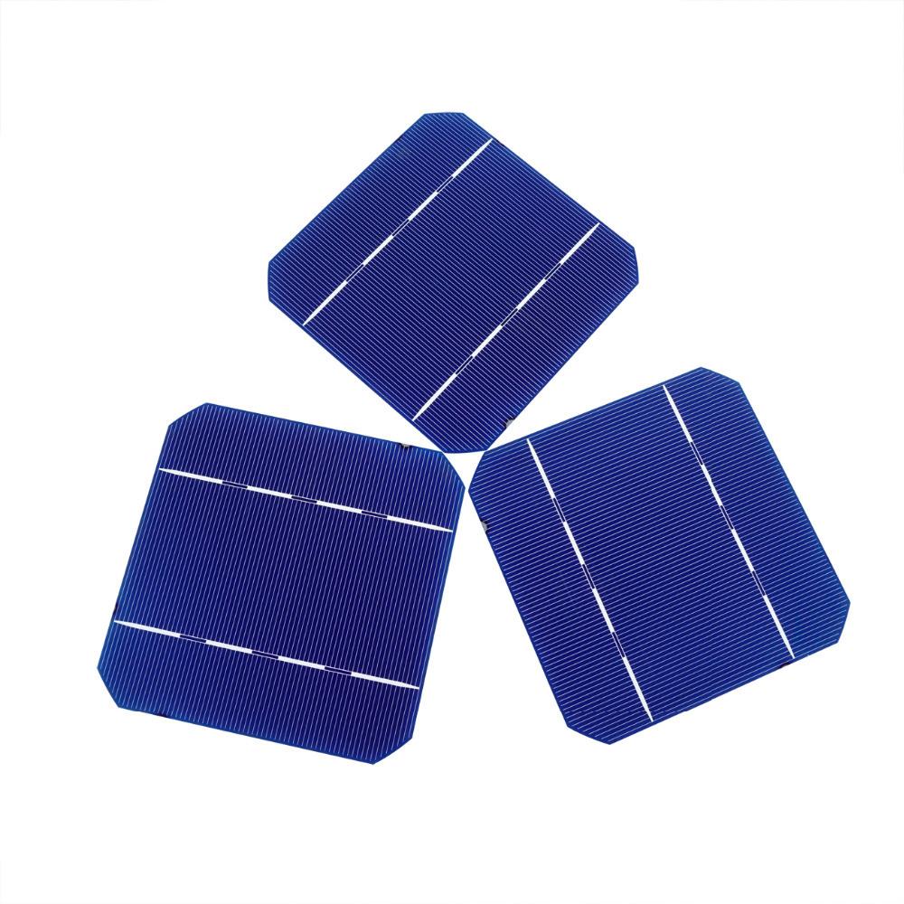 DIY 50w Solar Panel 20 pcs 5x5 A Grade Monocrystalline Solar Cell Solar Cells Free Shipping(China (Mainland))