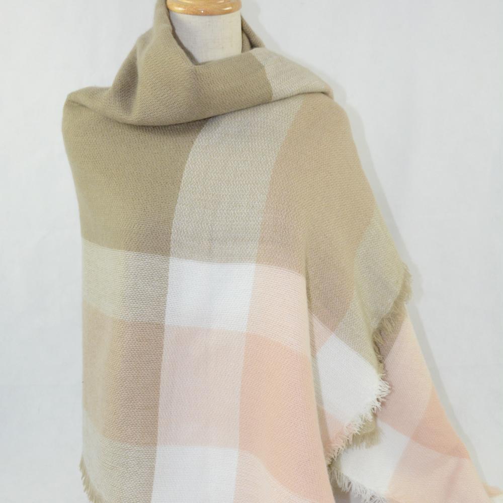 New Fashion Cheap Spain Desigual High Quality Square font b Tartan b font Ladies Blanket Shawl