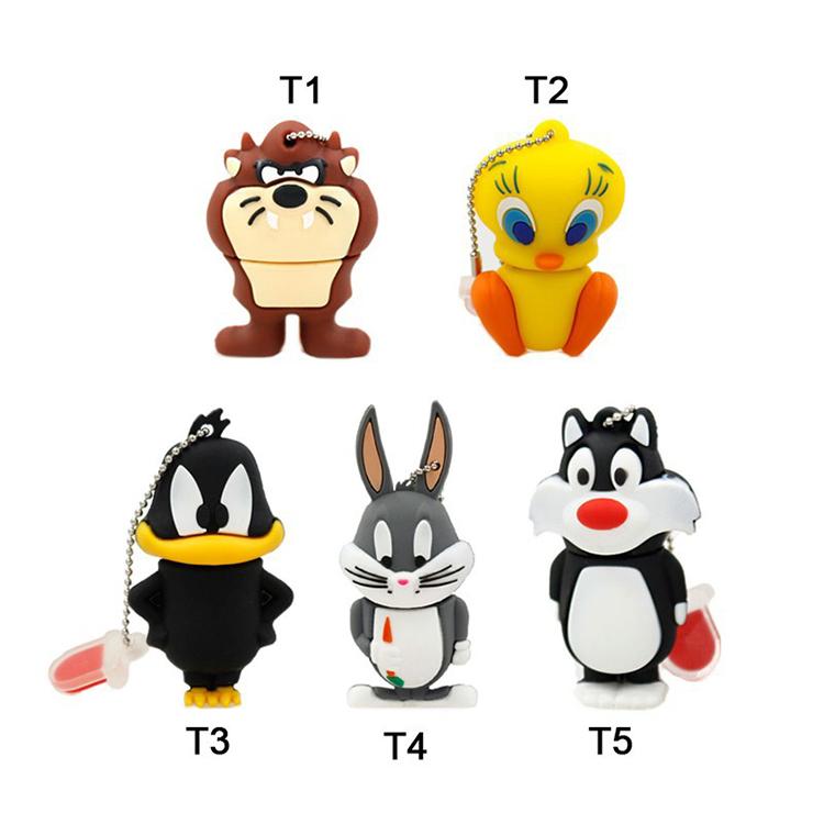 usb flash drive 64gb duck cat rabbit dog Tweety bird Cute Cartoon pen drive 16GB flash memory stick drive u disk pendrive(China (Mainland))