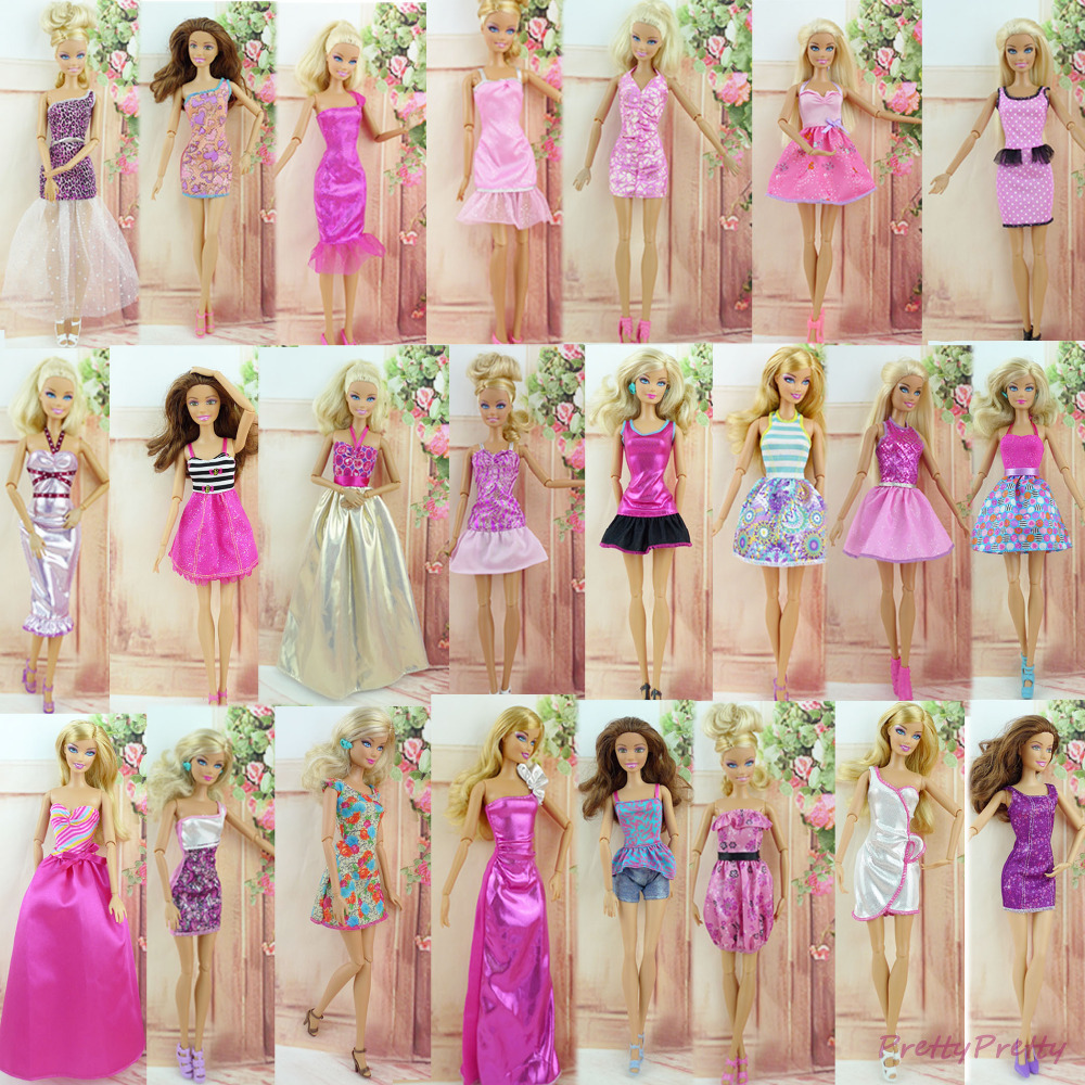 Randomly Pick Free Shipping 18 Sets New Handmade Party Doll's Dress Clothes Gown For Barbie best baby christmas gift Baby Toy(China (Mainland))