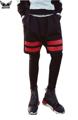 Mens Basketball Short Pants Cotton Fake Two Piece Running Shorts Basketball Shorts Gymshorts Striped Shorts For