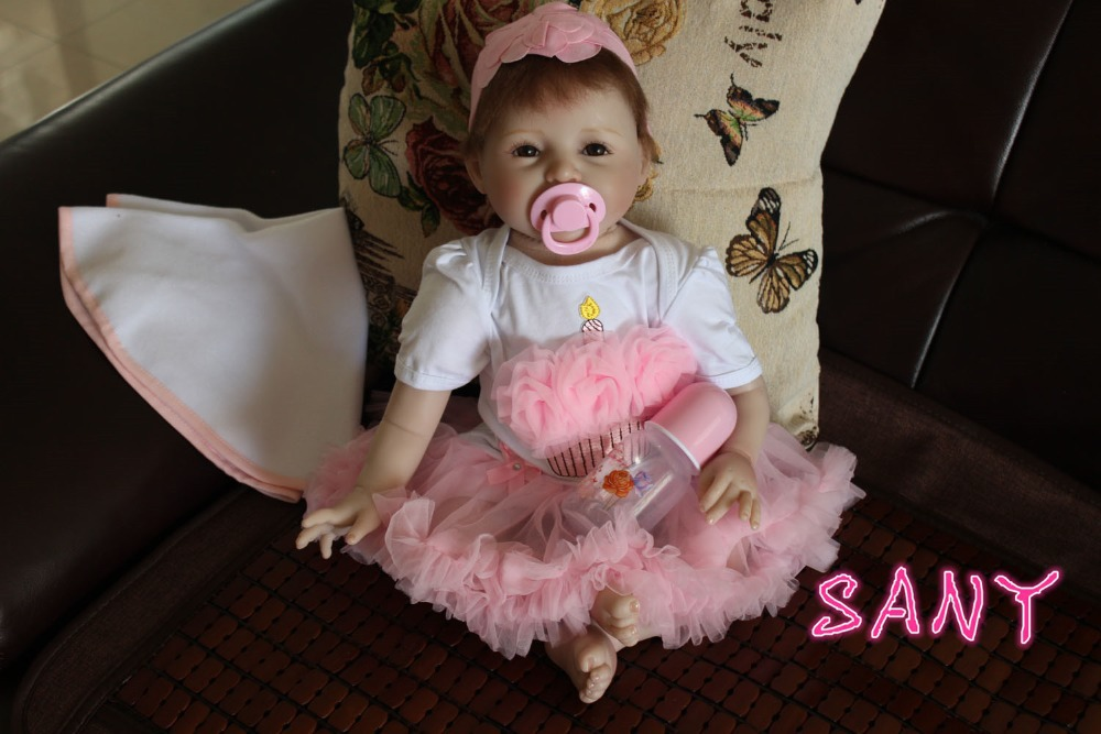 Hot Reborn Baby Dolls silicone doll baby toys Her early childhood special baby items Reborn dolls 22inch/55cm(China (Mainland))