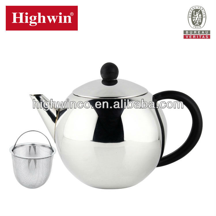1 5L Britain brand hot sale stainless steel teapot tea set tea kettle with strainer