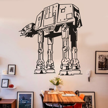 DIY Star Wars Black Wall Sticker Home Decor For Living Rooms Decorative PVC Removable Pegatinas De Pared(China (Mainland))