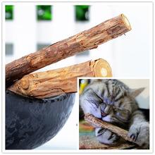 2 Pcs/bag Cat cleaning teeth Pure natural catnip pet cat molar Toothpaste stick fruit Matatabi cat snacks sticks hga(China (Mainland))