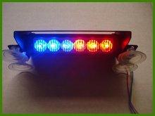 Free shipping! High qaulity Led beacon/Led trailer lamp/Led dash light/ Ledsignal light(DC12V 6pcs Led GenIII*1 watt Red&blue)(China (Mainland))