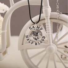 Movie Percy Jackson CAMP HALF Blood Flying HorsePendant Necklaces Jewelry Gifts Rope NecklaceSplicing Necklace Accessories