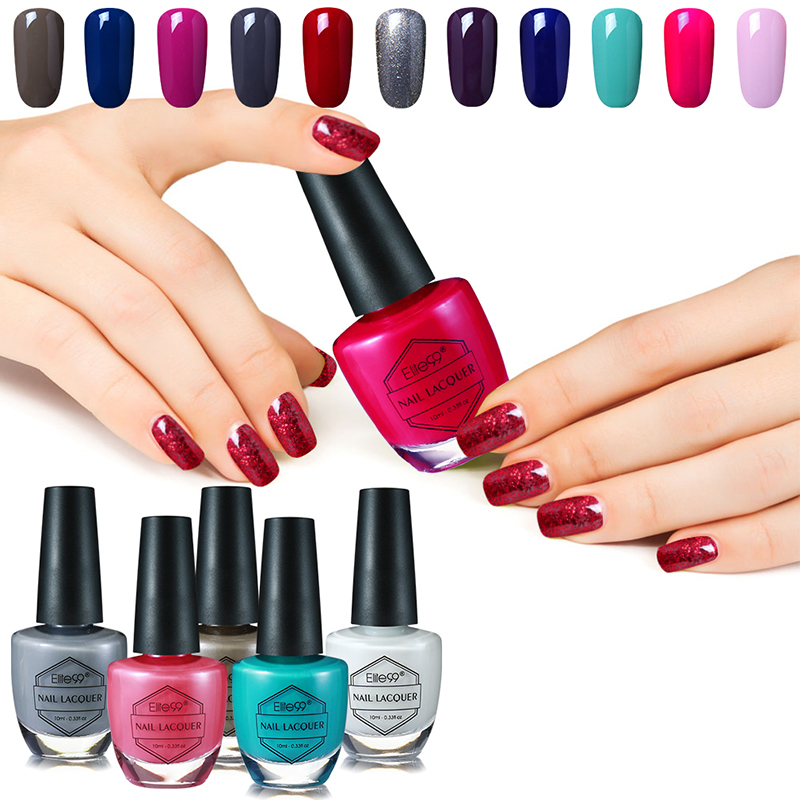 Elite99 59 Colors Choose Nail Polish Quick Dry Nail Art Polish Nail Enamel Fashion Manicure Polish Lacquer