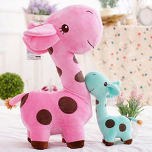 1pcs 25 cm Cute Plush Giraffe Soft Toys Animal Dear Doll Baby Kids Children Birthday Gift 6 Colors(China (Mainland))