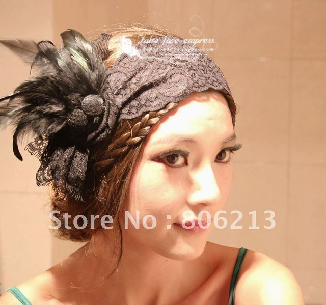Flower brooches hair ornaments bridal hair accessory fashion style/Magazine shooting