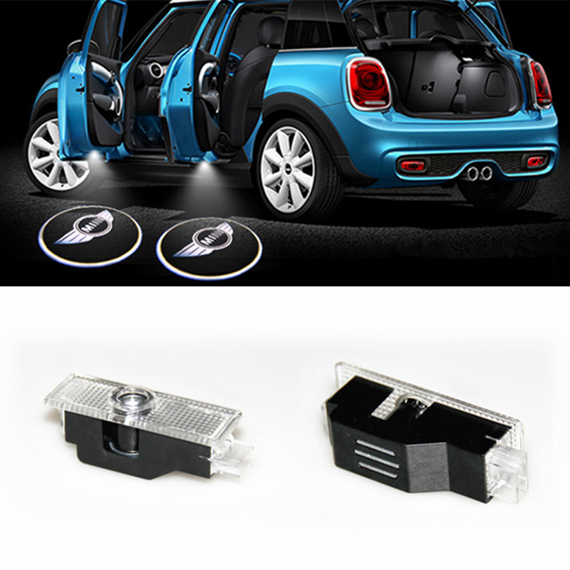 Mini Cooper COOL LED logo door light ghost shadow laser projetor light<br><br>Aliexpress