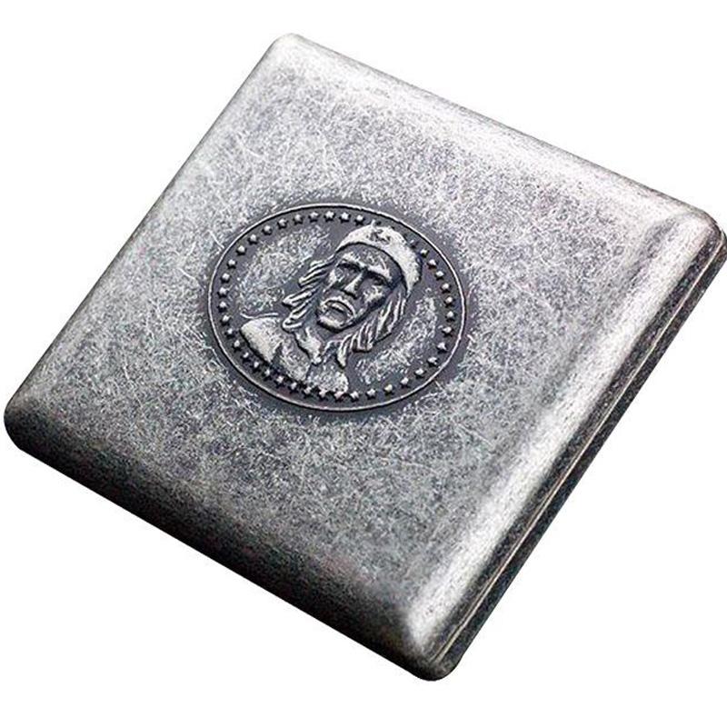 Caja de cigarrillos de plata vintage