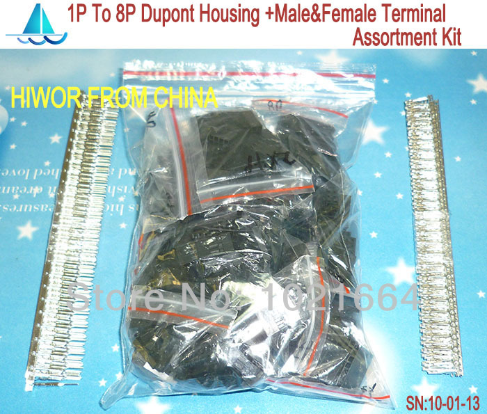 connectors dupont 12 Values From 1P To 8P 2 54MM 0 1inch Pitch Dupont Housing