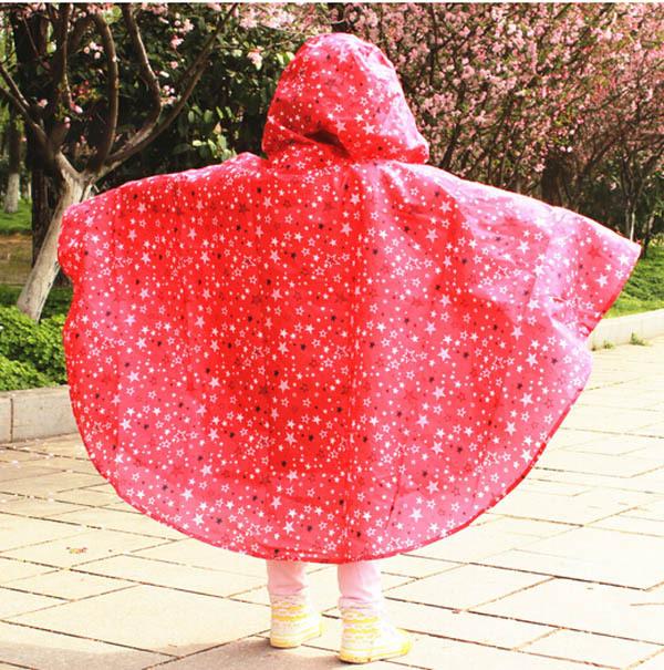 20 шт. дети дети дождь пальто пентакль звезды Raincape закрытый воротник водонепроницаемый пончо пляж банное полотенце