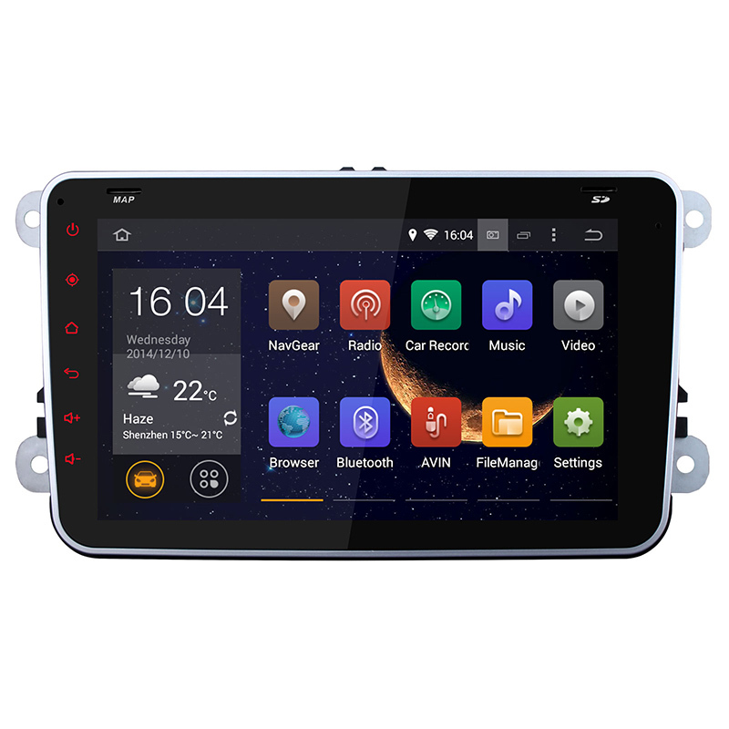 1 year warranty+hot sale+wholesale/retail+VW+2 din android 4.4 car dvd gps+8 inch+ Capacitive Touch+canbus(China (Mainland))