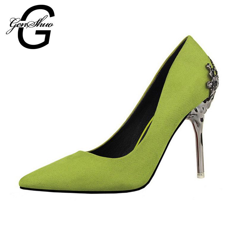 Women Pumps High Heels 2016 Fashion Pointed Toe Women Shoes Thin Heels Pumps10cm High Heels Red Shoes Woman
