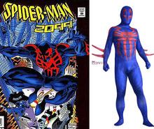 Movie Coser-5 High Quaity Super Spandex Hero Spider-Man 2099 Adult Men Cosplay Costume Suit - Coser-YOY store