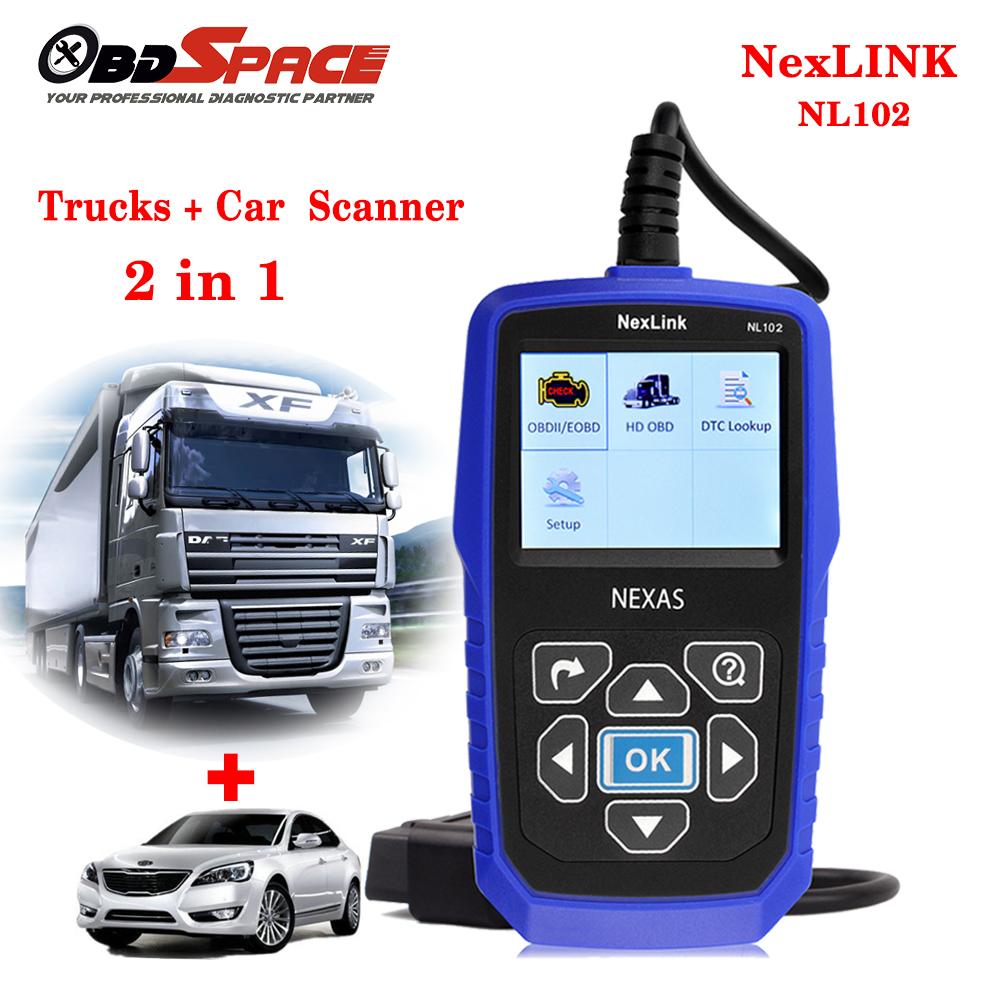 2017 New Truck Diagnostic Tool NEXAS NL102 Heavy Duty Truck Diagnostic Scanner Car Diagnostic 2in 1 For Mercedes / SCANIA Trucks(Hong Kong)