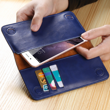 FLOVEME Multifunctional Genuine Leather Wallet Pouch Handbag Case For Samsung Galaxy E5 S2 S3 S4 S5 S4 S5 S6 S7 edge Mini Cover(China (Mainland))