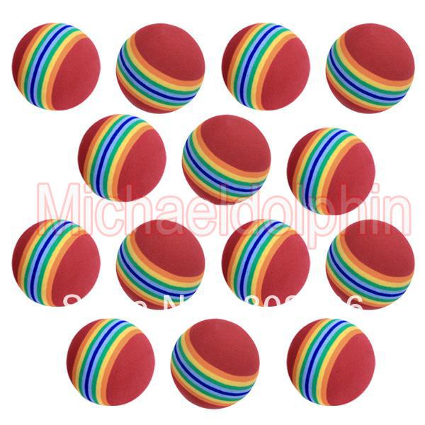 Free Shipping 20pcs Sponge Golf Ball Golf Training Soft Balls Practice Ball(China (Mainland))