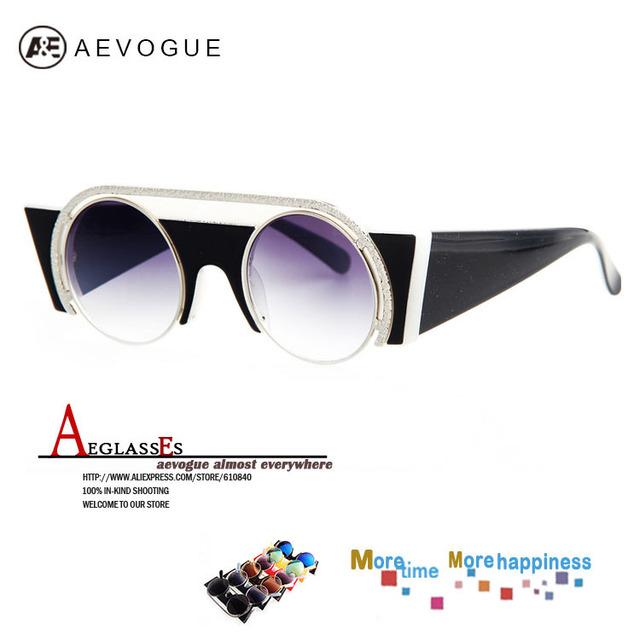 Солнцезащитные очки aEVOGUE новые круглый металлический каркас вс стекла высокое качество женщины винтаж очки мода многоцветный объектива UV400 AE0188