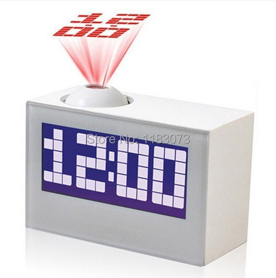Brand Digital LED Projector Clock Black White Multi-Function Clocks For Home Decor Talking Projection Alarm Clock Free Shipping(China (Mainland))