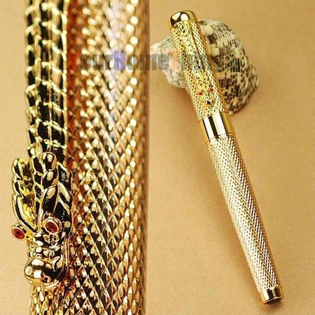 JINHAO 1200 Noblest Silver Dragon  Carver  M NIB Fountain Pen<br><br>Aliexpress