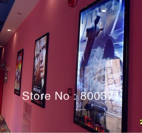 27x40 black frame led movie poster frame light box for home theater