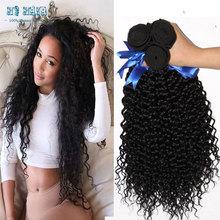7A Eurasian Hair Pineapple Wave Hair Deep Curly Wave Natural Black Cheap Weave 3 Bundles Hair Direct Selling Top Quality King