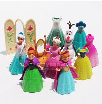 Disney Toys 2015 New Arrival Fashion Brand Kids Toys Plastic Cartoon Frozen Action Figures Kids Gift Anime Toys Ty060(China (Mainland))
