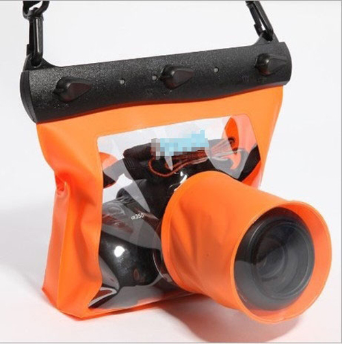 20M Underwater Waterproof Housing Case Bag for DSLR SLR Camera Nikon Canon Free shippingFree Shipping(China (Mainland))