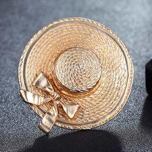 Lega del metallo Oro-Colore Cappelli Sciarpa Pins Gioielli Per uomo Coppia Arco Gioielli Spille Bouquet di Modo delle donne Punk Spilla(China)