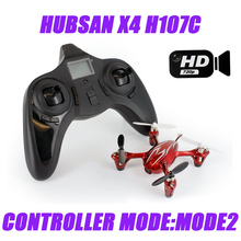 Hubsan X4 H107C 2.4G 4CH RC Quadcopter w/2MP Camera Gyro Drone Silver & Red