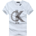 Free shipping Mens T shirts Fashion 2015 Casual Short Sleeve O neck Cotton Printed T Shirt
