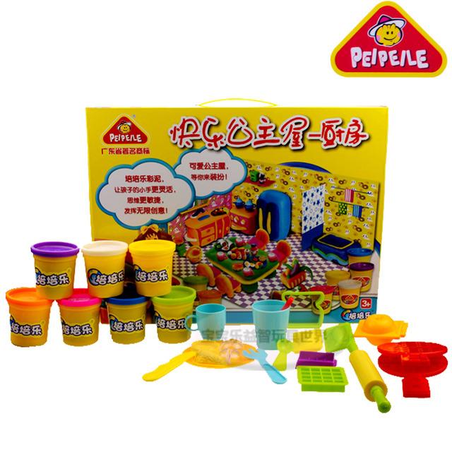 eductional children toy dough plasticine rubber mud happy princess kitchen eco-friendly puzzle color clay toy